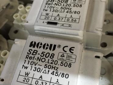 ACCU光管火牛Fluorescent Ballast/鎮流器/鍍錫編織銅帶 Braided Copper Tape